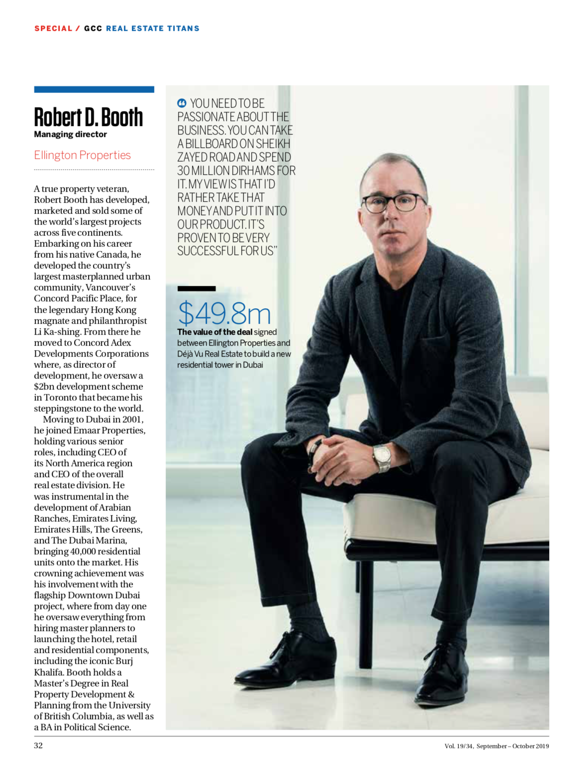 Robert Booth Article on Arabian Business - Real Estate Titans